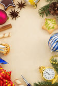 Christmas decoration on paper — Stock Photo