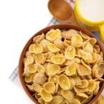 Bowl of corn flakes — Stock Photo #34617383