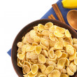 Bowl of corn flakes — Stock Photo