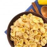 Bowl of corn flakes — Stock Photo #34617421