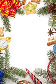 Christmas decoration on white — Stock Photo