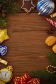 Christmas concept on wood — Stock Photo