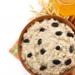 Plate of oatmeal — Stock Photo