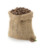 Allspice in bag on white — Stock Photo