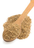 Coriander powder and spoon — Stok fotoğraf