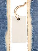 Blå jean och gamla papper — Stockfoto