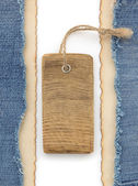 Blue jean and old paper — Stock Photo