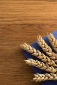 Espigas de trigo en la madera — Foto de Stock