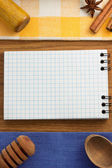 Notebook for cooking recipes — Stock Photo