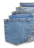 Jeans blue pocket — 图库照片