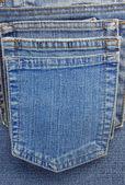 Jeans blue pocket — Stockfoto