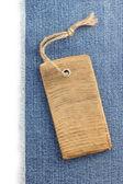 Jeansblau Textur auf weiß — Stockfoto