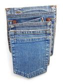 синие джинсы кармана — Стоковое фото