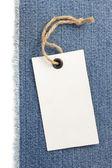 Jeans blue texture on white  — Stok fotoğraf