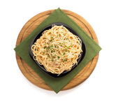 Pasta spaghetti on white background — Foto de Stock