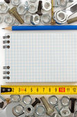 Metal construction hardware tool  — Stock Photo