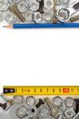 Metalowa konstrukcja sprzętu narzędzie — Zdjęcie stockowe
