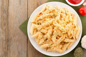 Pasta Penne in plate  — Stock Photo