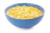 Corn flakes in bowl — Stock Photo