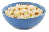 Cottage cheese in bowl — Stock Photo