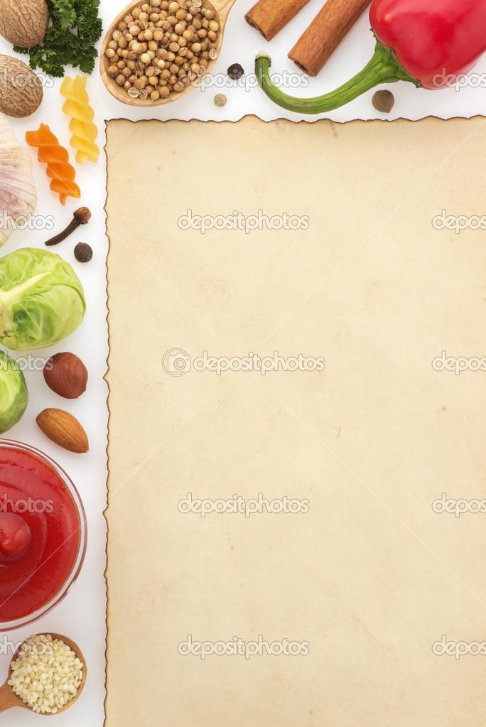 Marco de ingredientes de alimentos fotos de stock for Ingredientes para comida