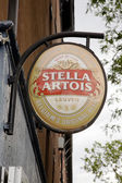 Stella Artois sign — Foto Stock