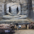 Stock Photo: Meditating Buddhstatue at Polonnaruwa