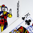 Joker and King Cards — Stock Photo