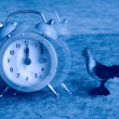 Alarm clock point at 12:00 take off - Foto Stock