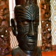 Maori wall carvings - Stock Photo