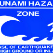 Stock Photo: Tsunami warning Sign