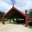 Whare Waka (Canoe house) - Stock Photo