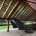 Whare Waka (Canoe house) — Stock Photo