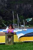 Malá holčička v marian — Stock fotografie