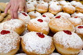Chanukah Jewish Holiday Food - Sufganiot Donuts — Stock Photo