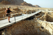 Qumran National Park Israel — Foto Stock