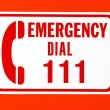 Emergency call 111 — Stock Photo