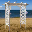 Wedding canopy on the beach - Stock Photo