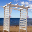 Stock Photo: Wedding canopy on the beach