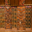 Stock Photo: Maori Wood Carvings