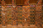 Maori Wood Carvings — Stock Photo