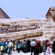 Stock Photo: Great Pyramids and Sphinx in Giza