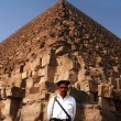 Stock Photo: EgyptiSecurity at Great Pyramids in Giza
