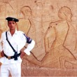 Egyptian Security in Abu Simbel Temple — Stock Photo #17326087