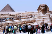 The Great Pyramids and the Sphinx in Giza — Stock Photo