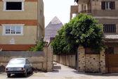 De grote piramides in giza — Stockfoto