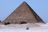 The Great Pyramids in Giza — Стоковое фото