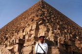 Egyptian Security at the Great Pyramids in Giza — Stock Photo