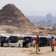 Egypt Travel Photos - The Great Pyramids in Giza - Stock Photo