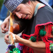 Aztec folklore in Zocalo Square, Mexico City — Stock Photo #17334117